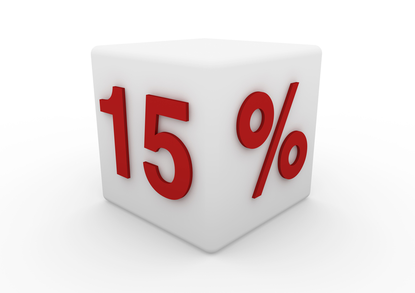 OFFERTA SCONTO 15%